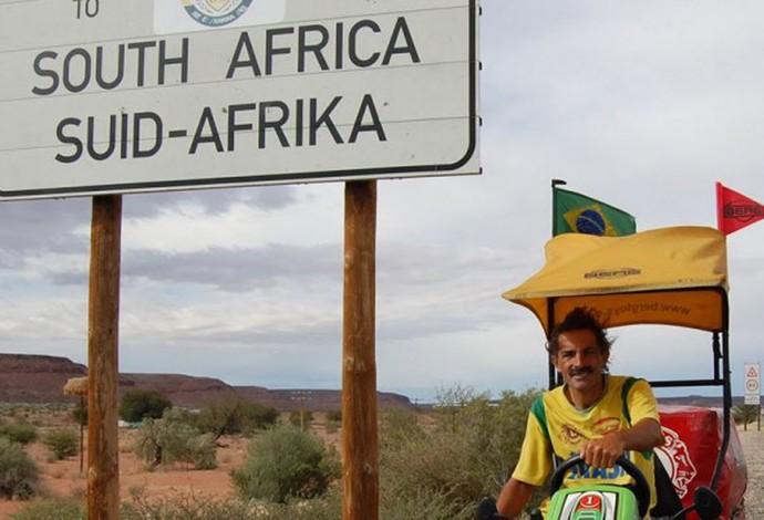 Zé do Pedal áfrica do sul (Foto: Divulgação)
