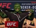 Hulk do Ultimate: lutador se pinta de verde e rasga camisa em pesagem