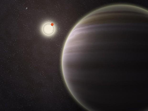 Planeta com quatro estrelas (Foto: Haven Giguere/Yale University)