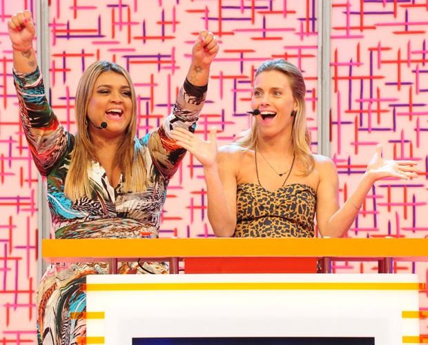Preta Gil e Carolina Dieckmann vão animar o Bloco da Preta neste Domingão. (Foto: TV Globo / Marcio Nunes)