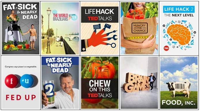 Sistema reconhece os adeptos da alimentação saudável e apresenta recomenda conteúdo global (Foto: Divulgação/Netflix)