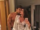 Kamilla Salgado posa de lingerie com Eliéser e mostra intimidade do casal