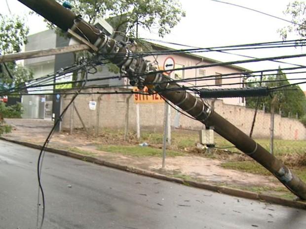 Temporal tem ventos de até 143 km/h na região de Campinas, diz Cepagri (Foto: Reprodução EPTV)