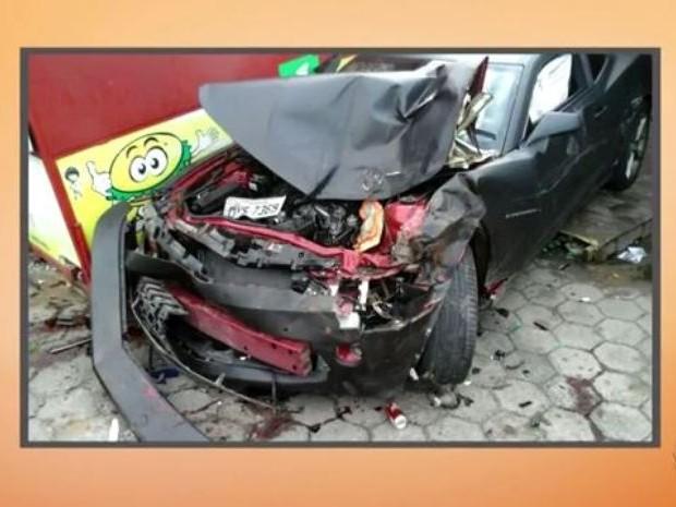 Suspeito dirigia Camaro preto (Foto: Reprodução/RBS TV)
