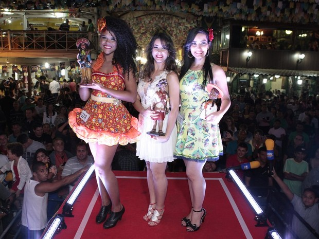Nadyanne Silva Oliveira, Irley Karina Nascimento de Melo e Fernanda Barros Lima Vasconcelos no Beleza Nordestina 2015 (Foto: Isac Luz/ EGO)