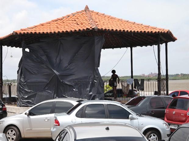 Coreto do Cais da Sagração faz parte do complexo do terminal hidroviário da Rampa Campos Melo (Foto: Flora Dolores/O Estado)