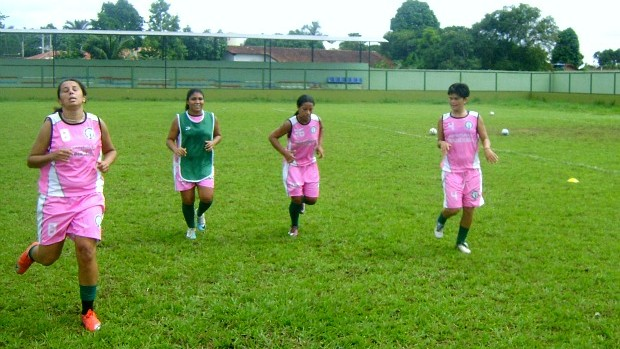 Treino do time feminino do Iranduba para a Copa Brasil (Foto: Divulga&#231;&#227;o)