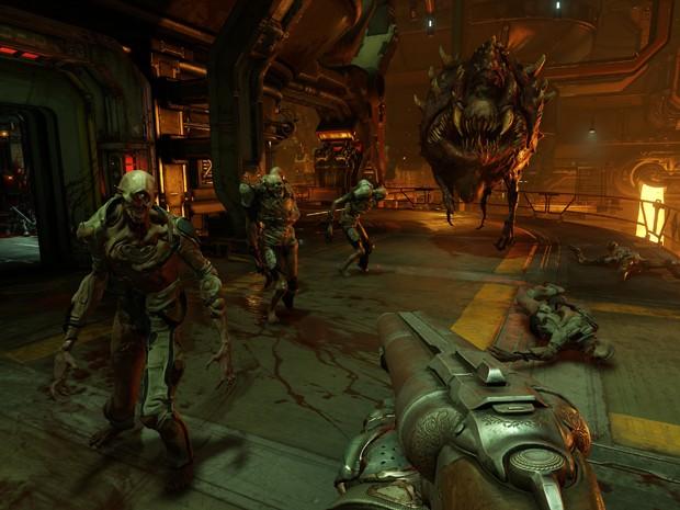 Clássico 'Doom' ressurge em versão alucinada e ultraviolenta (Foto: Divulgação/Bethesda)