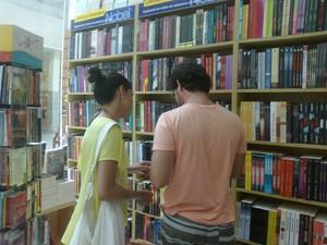 Casal Gisele e Tiago divergem em opinião  (Foto: Carolina Burgos/G1)