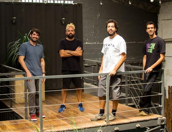 Os sócios: Tunico Almeida, Paulo de Castro - ZehPretim, Duda Gaspar e Marcos Sifu (Foto: Divulgação)