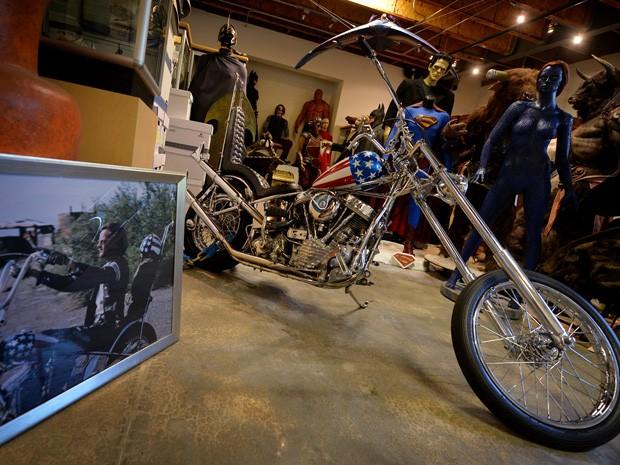 Moto icônica de 'Easy Rider' é vendida por US$ 1,35 milhão (Foto: AFP PHOTO/Mark RALSTON)