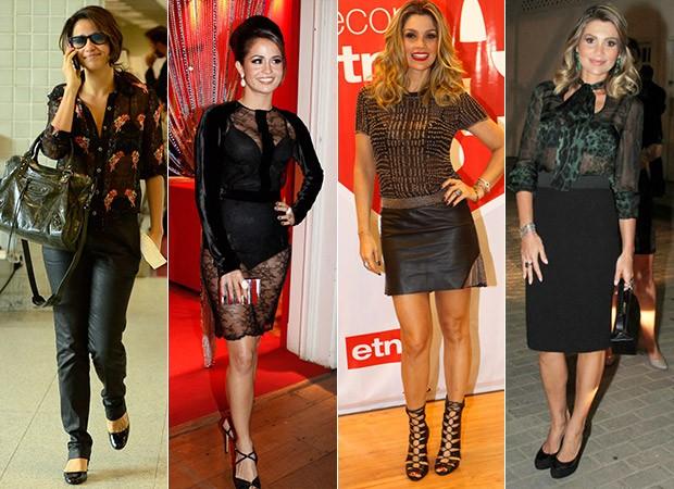 04 - Lingerie à mostra está na moda. Inspire-se nas famosas que usam
