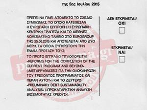 Cédula de votação do referendo deste domingo (5) (Foto: Reprodução)