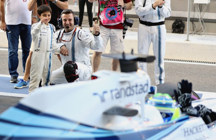 Felipe Massa Felipinho Abu Dhabi (Foto: Mark Thompson/Getty Images)