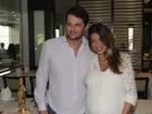 Mulher de Marcelo Serrado revela os nomes dos gêmeos em premiação
