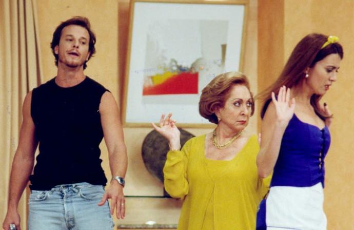 Em 1998, Marcello fez uma participação especial em 'Sai de Baixo', humorístico no qual Aracy era Cassandra (Foto: Cedoc / TV Globo)