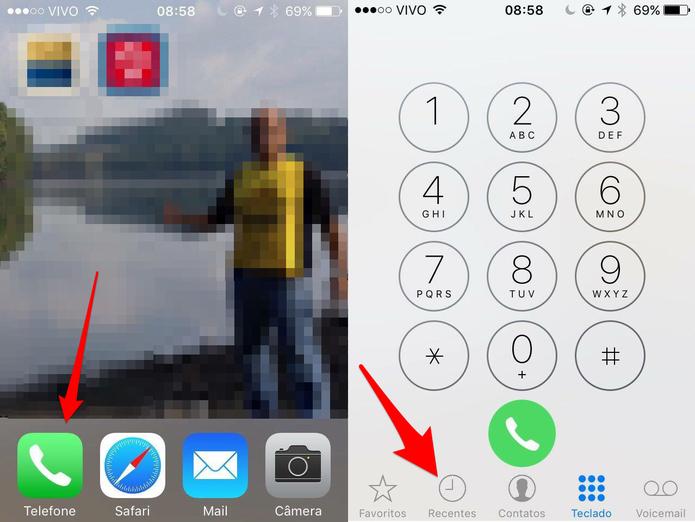 Abra o app Telefone no Phone (Foto: Reprodução/Lucas Mendes)
