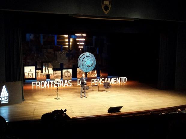 Brian Greene Fronteiras do Pensamento Porto Alegre (Foto: Tanise Scherer/G1)