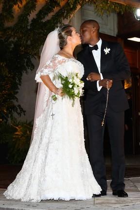 Casamento de Fernanda Souza e Thiaguinho (Foto: Manuela Scarpa e Amauri Nehn/Photo Rio News)