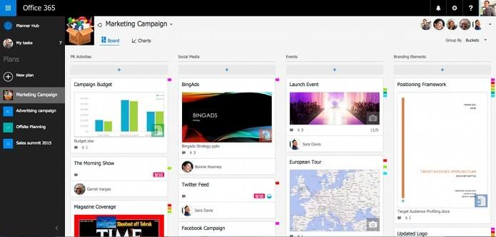 Planner pode ajudar a gerenciar trabalho em equipe (Foto: Reprodução/Microsoft)