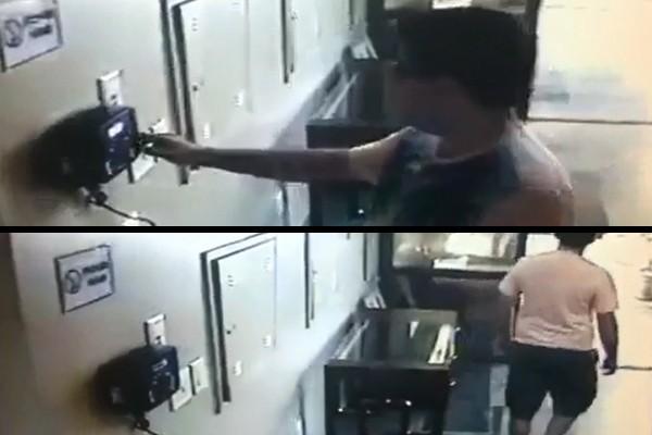 Vídeo mostra Armando batendo ponto e indo embora da Câmara, em 2013 (Foto: Reprodução)