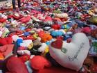 Ação reunirá milhares de pessoas e corações de tecido em Santos