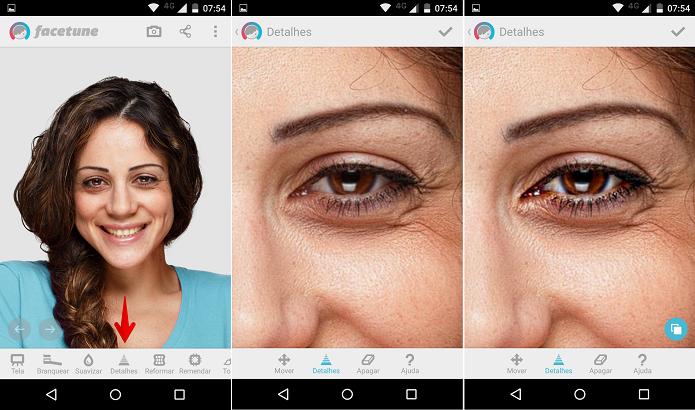 Realçando detalhes do seu rosto, como a cor dos olhos (Foto: Felipe Alencar/TechTudo)
