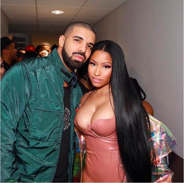 A cantora Nicki Minaj e o rapper Drake (Foto: Instagram)