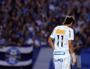 Neymar recebe cartão vermelho na partida do Santos (Foto: Edu Andrade / Ag. Estado)