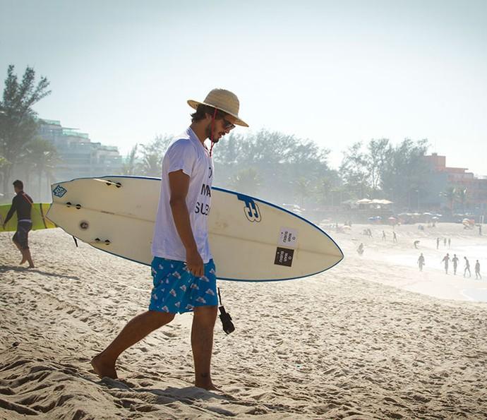 'Acho que se não fosse o surf, eu não teria feito novela', diz o ator (Foto: Fabiano Bataglin/Gshow)