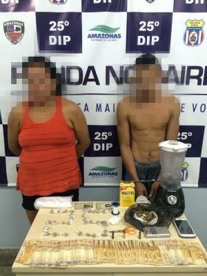Casal foi preso após denúncia de suspeito, em Manaus  (Foto: Divulgação/ Polícia Civil)