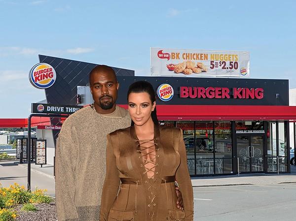 Kim Kardashian e Kanye West / Burger King (Foto: Getty Images)