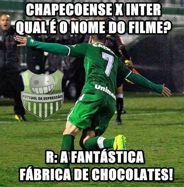 Chapecoense 5x0 Inter - redes sociais (Foto: Reprodução)