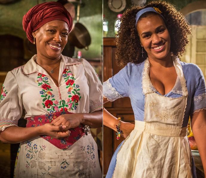 Suely Bispo e Mariene de Castro são Doninha e Dalva, respectivamente, na segunda fase de 'Velho Chico' (Foto: Inácio Moraes/ Gshow)