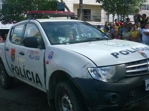 Suspeitos atiraram contra efetivo da Rocam (Foto: Amanda Dantas/ TV Asa Branca)