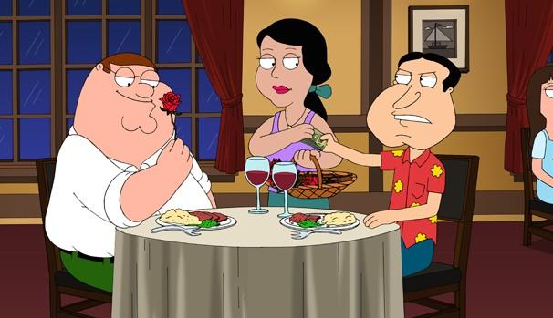 Peter exige encontro romântico com Quagmire para cumprir tarefa (Foto: Divulgação/Reprodução)