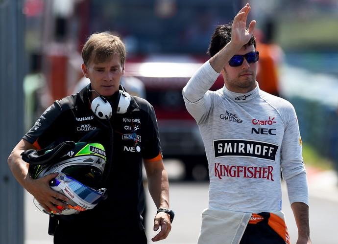 Sergio Pérez - Force India - GP da Hungria (Foto: Getty Images)