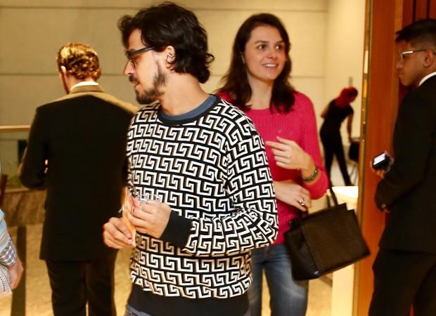 Mônica Iozzi e Felipe Flores (Foto: Manuela Scarpa / Brazil News)