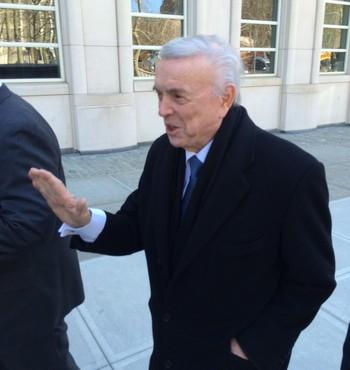 Marin chega ao tribunal em NY (Foto: Martin Fernandez)