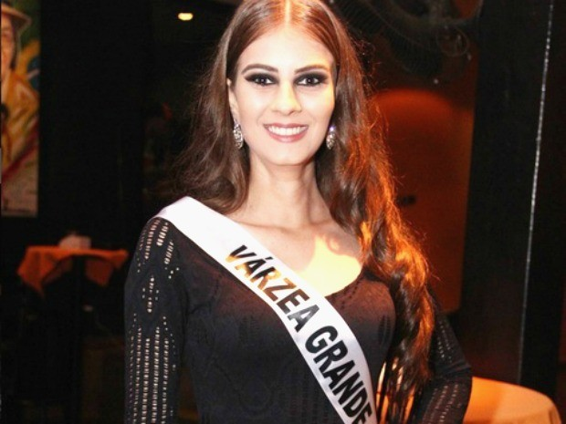 Miss Várzea Grande, Liara Marmet, 18 anos, 1,77m de altura e 53kg (Foto: Divulgação)