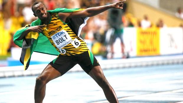 Bolt Mundial moscou 100 M (Foto: Agência Reuters)