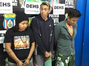 Três pessoas foram presas suspeitas do crime; mandante segue foragida (Foto: Diego Toledano/G1 AM)