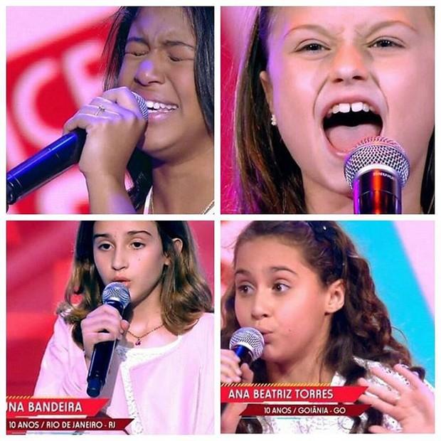 Radamés Martins mostra algumas crinaçnas do The Voice Kids (Foto: Reprodução / Instagram)