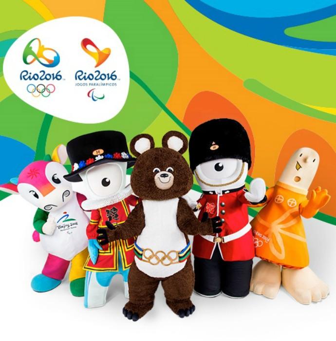 Mascotes visitam cartões-postais cariocas (Foto: Dovulgação)