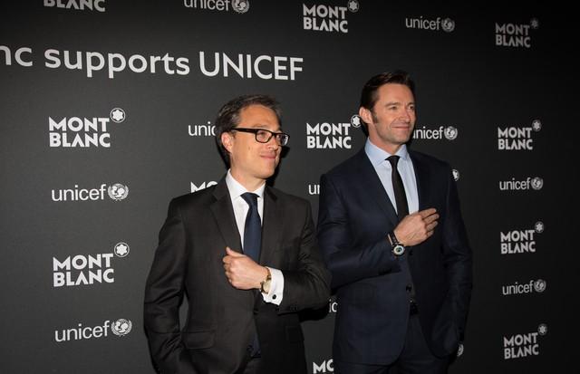 Nicolas Baretski, CEO da Montblanc, e Hugh Jackman (Foto: Divulgação)