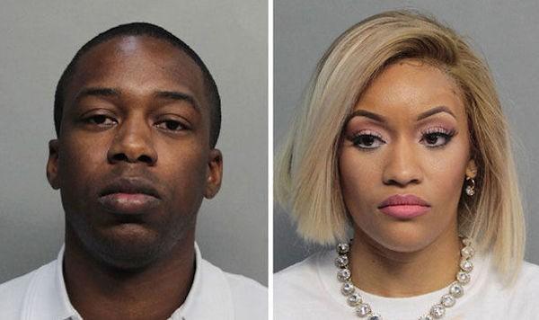 As duas pessoas presas pela polícia de Miami que atuavam como falsos empresários da cantora Adele (Foto: Divulgação)