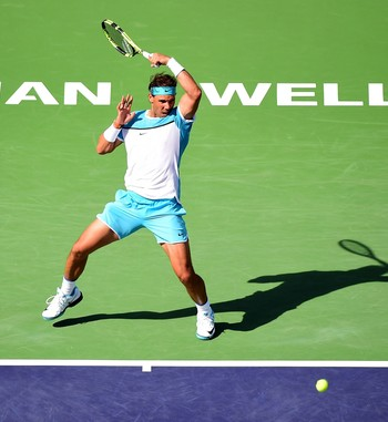 Novak Djokovic x Rafael Nadal semifinal Indian Wells (Foto: Getty Images)