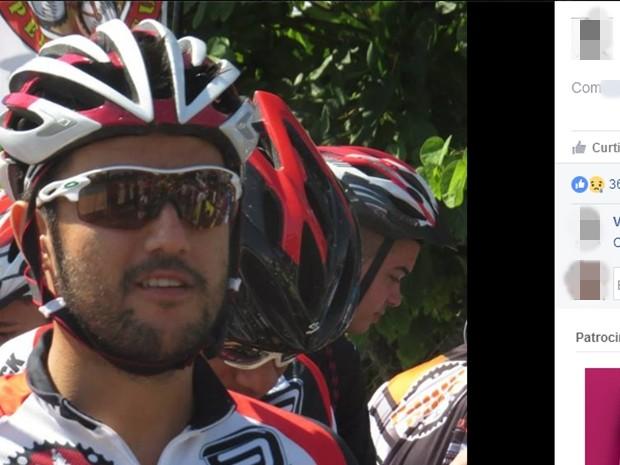 Ciclista morreu em acidente em uma cidade do Pará e foi enterrado em Mogi das Cruzes (Foto: Reprodução/Facebook)