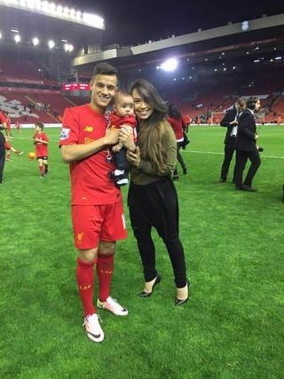 Philippe Coutinho e esposa Aine (Foto: Arquivo pessoal)