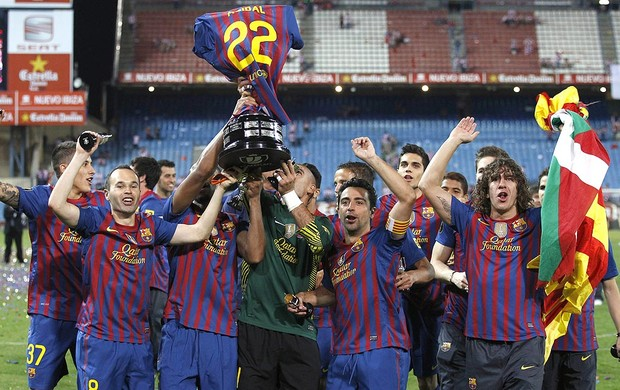 Barcelona, Campeão Copa do Rei (Foto: EFE)